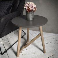 Hudson Living Hamar Round Side Table Grey