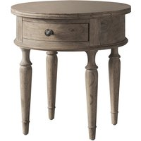 Gallery Direct Mustique Round 1 Drawer Side Table