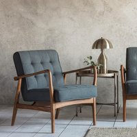 Gallery Direct Humber Armchair in Dark Grey Linen