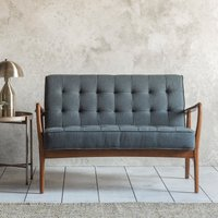 Gallery Direct Humber 2 Seater Sofa in Dark Grey Linen