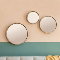 Gallery Direct Rico Set of 3 Mirrors Natural