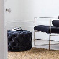 Hudson Living Sergio Footstool Velvet / Grey