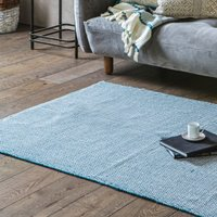 Gallery Direct Cotton Woven Rug Diamond Teal