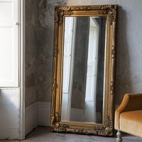 Gallery Direct Carved Louis Leaner Mirror Gold