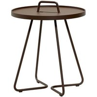 CANE-LINE On-the-move Outdoor Side Table Small Aluminium Mocca