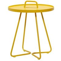 CANE-LINE On-the-move Outdoor Side Table Small Aluminium Yellow