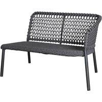 Cane-line Ocean 2-Seater Outdoor Sofa Left Module Dark Grey