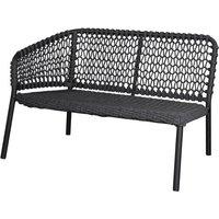 Cane-line Ocean 2-Seater Outdoor Sofa Right Module Dark Grey