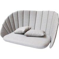 Cane-line Peacock 2-Seater Sofa Light Grey Outdoor Cushion Set