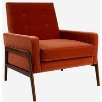 Andrew Martin Jagger Burnt Orange Armchair