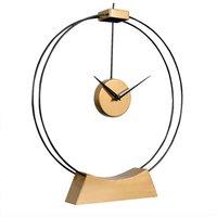 Libra Tillington Skeleton Mantel Clock Black And Gold