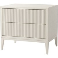 RV Astley Amur Wide White Bedside Cabinet Wide