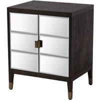 RV Astley Aldan Chocolate And Antique Brass Bedside Cabinet