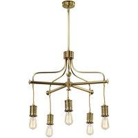 Elstead Douille 5 Light Chandelier Aged Brass