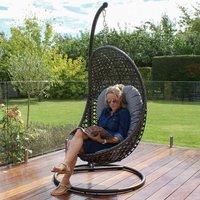 Maze Rattan Malibu Grey Outdoor Hanging Chair