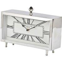Libra Nebolo Nickel Rectangular Table Clock