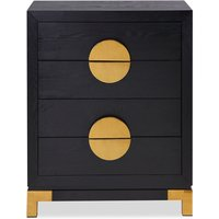 'Liang & Eimil Otium Chest Of Drawers Black Ash Brass Handle
