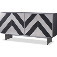 Liang and Eimil Unma Sideboard Black Ash (Brushed Stainless Steel Legs)