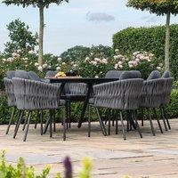 Maze Rattan Marina 8 Seat Outdoor Furniture Set in Charcoal