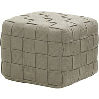 CANE-LINE Cube Outdoor Footstool Soft Rope Taupe