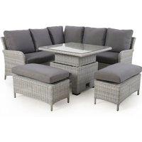Maze Rattan Ascot Outdoor Furniture Set in Grey