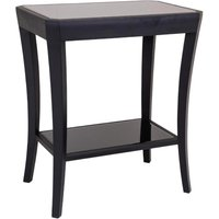 RV Astley Hyde Side Table with Black Glass