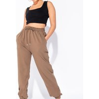 Olive Tie Waist Oversized Joggers