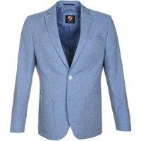 Deze suitable colbert opio blauw met een pasvorm tailor fit is gemaakt van linnen in de kleur blauw met een ...