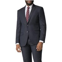 Navy Micro Wool Blend Tailored Fit Suit Jacket 42S Navy