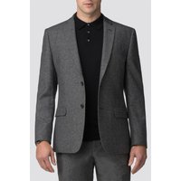 Grey Donegal Wool Blend Tailored Fit Suit Jacket 44R Grey