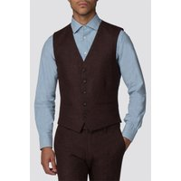 Branded Rust Donegal Slim Fit Waistcoat 36R Rust