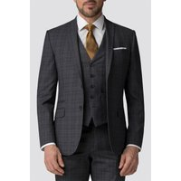 The Collection Charcoal Tonal Check Tailored Fit Jacket 38S Charcoal