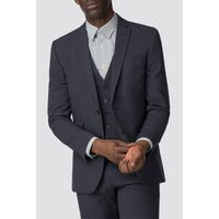 The Collection Navy Broken Texture Tailored Fit Jacket 42R Navy