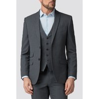 The Collection Charcoal Semi Plain Tailored Fit Jacket 42R Charcoal