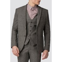 Red Herring Oatmeal Donegal Slim Fit Jacket 46R Oatmeal
