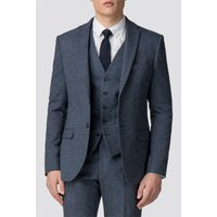 Red Herring Airforce Blue Donegal Slim Fit Suit Jacket 42S AIRFORCE