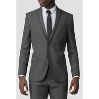 Charcoal Razor Edge Slim Fit Suit Jacket 40R Charcoal
