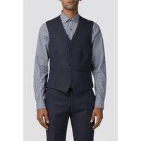 Ben Sherman Deep Blue Tweed Donegal Camden Waistcoat 40R Blue