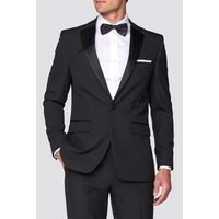 Occasions Black Regular Fit Tuxedo Jacket 38S Black