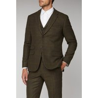 Racing Green Green Heritage Check Tailored Fit Jacket 50R GREEN