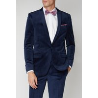 Limehaus Bright Blue Velvet Slim Fit Jacket 42S Bright Blue