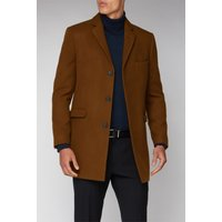 Limehaus Tan Melton Overcoat 50R Tan