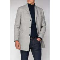 Limehaus Cool Grey Melton Overcoat 46R Grey