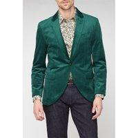 Studio Green Slim Suit Mens Velvet Blazer 46L GREEN