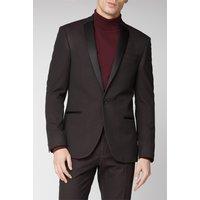 Limehaus Burgundy Texture Slim Suit Jacket 40R Burgundy