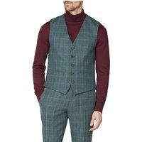 Racing Green Green Heritage Check Tweed Waistcoat 46R GREEN