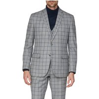 Racing Green Grey Windowpane Heritage Tweed Jacket 46R Grey
