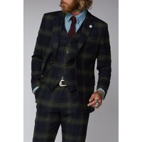 Gibson London Green Black and Red Tartan Jacket 48R GREEN