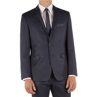 Limehaus Blue Textured Slim Fit Suit Jacket 40L Blue