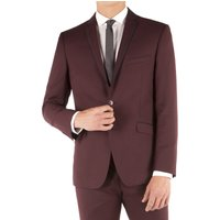 Limehaus Burgundy Twill Slim Fit Suit Jacket 40L Burgundy